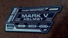 IRON MAN MARK 5 DISPLAY NAME PLACARD FOR YOUR HELMET ARMOR V