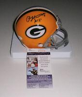 PACKERS Paul Hornung signed mini helmet w/ HOF86 JSA COA AUTO Autographed