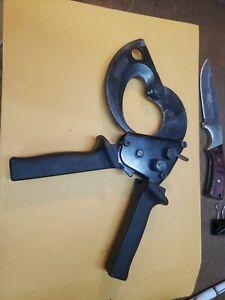 """Westward 10D467 10"""" Cable Cutter, Ratchet Action, 2-3/32"""" Cap"""