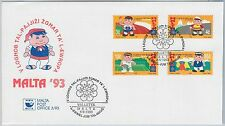54469  - MALTA - POSTAL HISTORY: FDC COVER 1993: Sport  TENNIS CYCLING Athletics