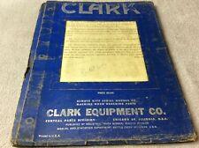 Clark Equipment Cfy60 Maintenance Manual
