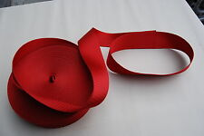 HOLDEN HK HR, FORD, VALIANT etc. GOYA RED SEATBELT WEBBING *AUSTRALIAN MADE*
