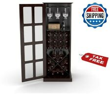 Wine Cabinet Organizer Glass 24 Bottles Rack Storage Bar Shelf Free Standing