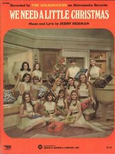 We Need Little Christmas 1966 Dean Martin TV THE GOLDDIGGERS Vintage Sheet Music