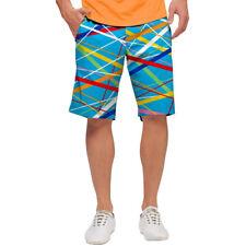 Loudmouth Golf para hombres Stix-S frente plano pantalones cortos nuevo