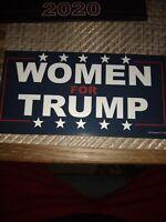 "Donald Trump women for Trump 2020 - Magnetic Bumper Sticker 4""*8"""