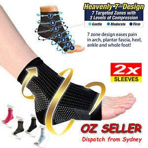 Sports Compression Socks Foot Sleeves Arthritis Sore Achy Heel Ankle Pain relief