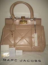 NEW Marc Jacobs Patchwork Klein Frame Blush Leather Tote Bag Handbag Gold Lock