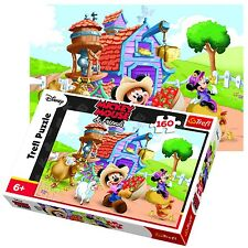 Trefl 160 Piece Kids Unisex Disney Mickey Minnie Mouse Farmer Jigsaw Puzzle NEW