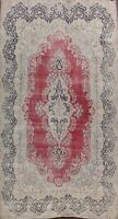 Traditional Semi Antique Distressed Evenly Low Pile Hand-knotted Area Rug 10x14