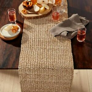 """Crate & and Barrel LANAI WOVEN Table Runner- 14"""" x 90"""" NEW- NWT! All Occasion"""