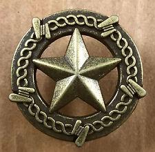 Star Barbwire Drawer Cabinet Knob Pull Western Decor Antique Brass