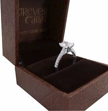 Emerald Cut 1.32 Ct Diamond Engagement Rings Solid 14kt White Gold Ring All Size