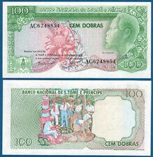 St. Thomas & Prince 100 Dobras 1982 UNC p.57