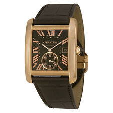 Cartier Tank MC Mechanical Brown Dial Brown Leather Strap Mens Watch W5330002