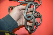 "Rain Chain, Wrought Iron, 3/8"" hammered bar, 4"" links made by Blacksmiths Usa"