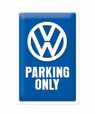 22194 Placa metálica 20x30 volkswagen parking only nostalgic art coolvintage