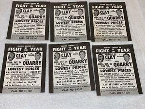 6 MUHAMMAD ALI CASSIUS CLAY VS JERRY QUARRY 1970 BOXING FIGHT FLYER HANDBILLS WH