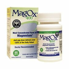 2 Paquet Magox 400 Magnésium Oxyde Complément Alimentaire 60 Comprimés Chaque