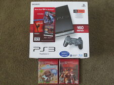 NEW Sony PlayStation 3 Slim 160gb Charcoal Black Console PS3 System CECH-2501A