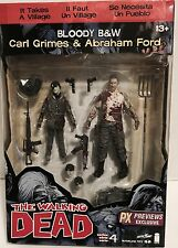 Walking Dead Comic Series 4 Bloody Black & White Carl Grimes & Abraham Ford Px