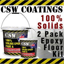 100% Solids 2 Pack Epoxy Flooring Kit 10L - Garage Floor Coating, Warehouse etc