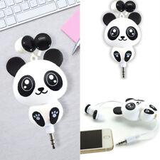 US Cute Mobile Phone Headset Cartoon Panda Design Earphone Retractable Headphone