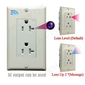 Wifi Secret Spy Camera is Hidden in Wall AC Outlet, Socket AC Output Can Be Used