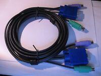KVM Switch Cable Tripp Lite P753-006 PS2 VGA M-F 6ft  - NOS Qty 1