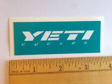 "3 7/16""  YETI CYCLES Blue/White Axe MTB BICYCLES BIKE FRAME -- STICKER DECAL"
