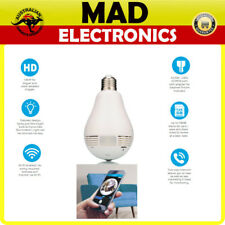 LED SIGHT LIGHT BULB 360 DEGREE PANORAMIC WIRELESS FISHEYE SPY CAMERA RECORD