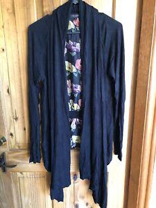 Ted baker Black Floral Cardigan Size 4