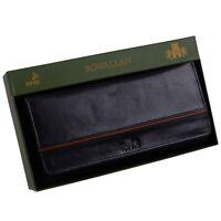 Rowallan Leather Ladies Black Matinee Large Flap Over Purse/Wallet