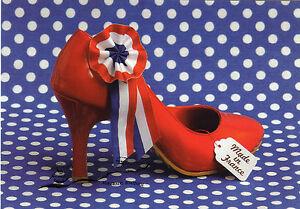 Kunstpostkarte - Soulayrol und Gaillard:  Roter Schuh  Red shoe / Made in France