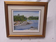 Original Parry Sound Canada Oil on Board  K Tomlinson Signed 8x10 in 16x15 Frame