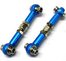 02157 122017 1/10 RC Alliage Lien Bras Tirant bras Track Rods 2 Bleu 35 mm - 40 mm