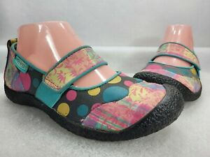 Keen Womens Harvest 1007741 Polka Dots Cotton Comfort Mary Janes Shoes Size US 7