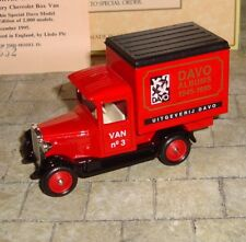 LLEDO - PROMO - 1928 CHEVROLET BOX VAN - UITGEVERIJ DAVO  - LTD EDITION - BOXED