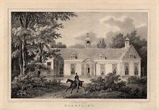Antique Castle Print-ZORGVLIET-NETHERLANDS-Christ-1846