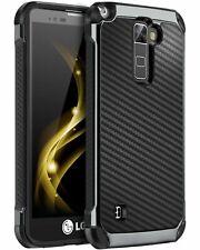 LG Stylo Stylo 2 Plus 2 Stylo 2V caja de la fibra de carbono dura de la PC TPU t