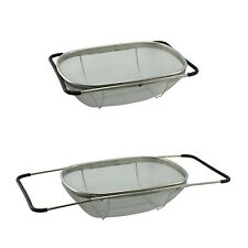 Over Sink Strainer Stainless Steel Colander Drainer Expandable Mesh