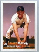 WALT MORYN CHICAGO CUBS 1957 STYLE CUSTOM MADE BASEBALL CARD BLANK BACK