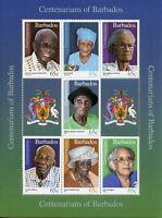 Barbados 2016 MNH Super Centenarians of Barbados 7v M/S People on Stamps