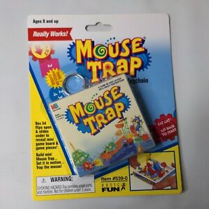 Vintage Mini Mouse Trap Keychain Travel Size Classic Board Game New Sealed