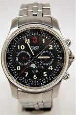 Swiss Army Victorinox VIP Chronograph Moonphase S/S Mens 40mm Quartz Watch B4823