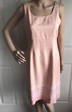 TOMMY BAHAMA Womens Dress Peach 100% Silk Sleeveless Summer Vacation Sz 6 Small