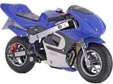 MotoTec GBmoto Gas Pocket Bike 40cc 4-Stroke Blue Chain Drive