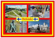 HELSINKI, FINLAND - SOUVENIR NOVELTY FRIDGE MAGNET - FLAGS / SIGHTS - GIFT - NEW