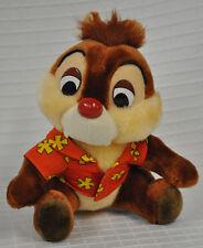 "CHIP & Dale HAWAIIAN Shirt CHIPMUNK Rescue RANGERS Disney 8"" STUFFED Animal VTG"