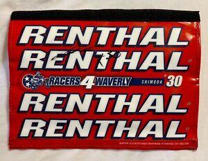 Jo Shimoda Custom Signed Racers 4 Waverly Race Worn Renthal Crossbar Pad
